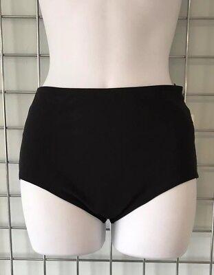 Karla Colletto Black Basic High Waisted Bikini Pants
