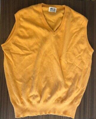 Kinross Sleeveless V Neck Jumper 100% Cashmere Made In Scotland.