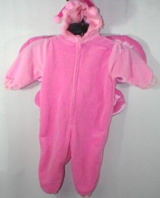 Miniwear Pink Fleece Butterfly Halloween Costume Sz 12 Months Zip Front - Pink Butterfly Halloween Costume