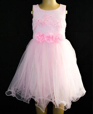 Schöne Kleid Mädchen Kleid Ärmelloß Glitze Blümenmädchen Dress Hochzeit