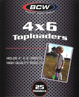 500 New 4X6 Toploader Rigid Plastic Holder Photo Postcard Protects from Bending