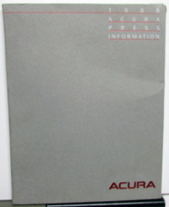 1988 Acura Auto Show Press Kit - Integra Legend