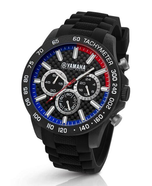 TW Steel Yamaha Factory Racing 45mm Black Strap Chronograph Watch Y112