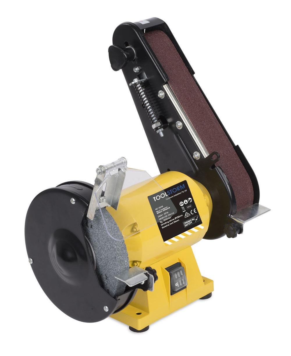 150mm Bench Grinder Linisher Sanding Grinding Wheel Belt