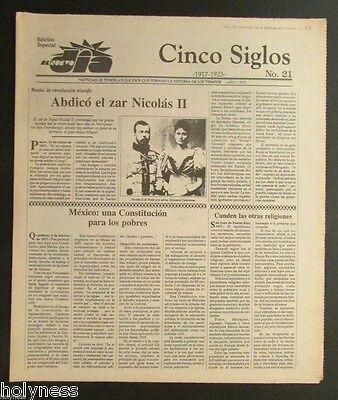 El Nuevo Dia    Vintage Newspaper   Cinco Siglos De Historia   21   Puerto Rico