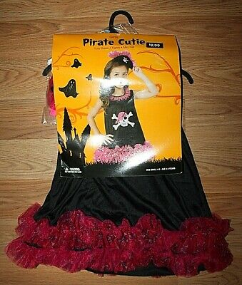 GIRL'S RUBIE'S PIRATE CUTIE DRESS/TIGHTS/HAT HALLOWEEN COSTUME -SIZE S(3-4yrs)!