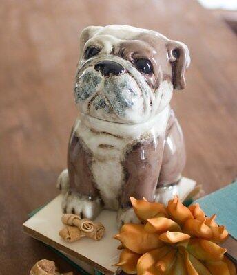 Bulldog Cookie Jar Ceramic Dog Treat Cookie Jar Bulldog Treat Canister