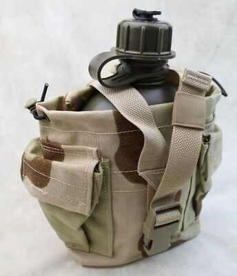 NOS NEW USGI US MILITARY ISSUE 1 QT CANTEEN W/ DESERT CAMO COVER