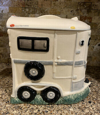 Montana Lifestyles Horse Trailer Large Cookie Jar, Horse Chip Cookies