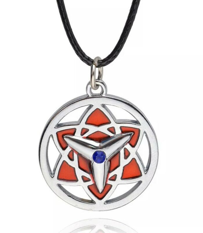 "Naruto Sasuke Eternal Mangekyou Sharingan Necklace Pendant Anime 1"" US Seller"