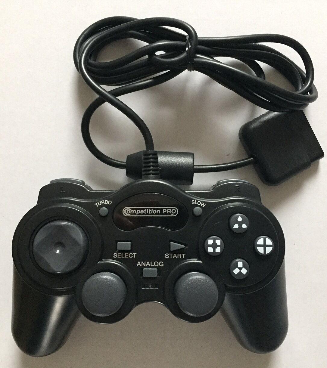 Playstation 2 Controller - Gamepad für PS2 **NEU** Schwarz - Competition Pro