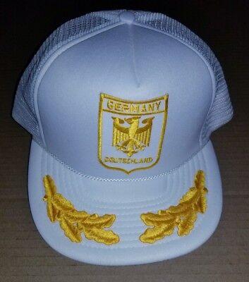 Deutschland Germany Coat of Arms Eagle Gold Leaf VTG Mesh Trucker Snapback Hat