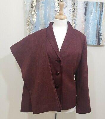 LE SUIT Women 2PC Elegant Red Pant Suit Size 16