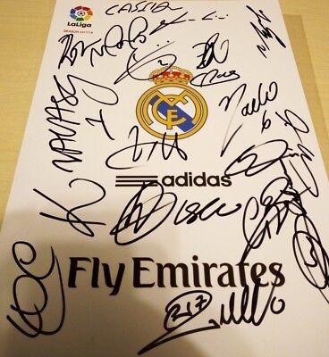 Lamina Firmada REAL MADRID comprar usado  Enviando para Brazil