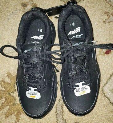 7'4 Runner (Mens Athletic Shoes BLACK AVIA FRONT RUNNER Wide Width 7 4E)