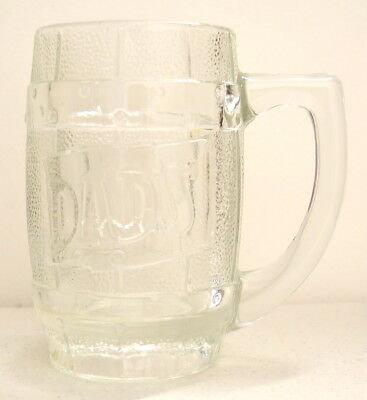 Vintage Old Time DAD'S ROOT BEER Barrel Mug Heavy Clear Glass