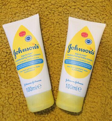 Johnsons Moisturising Baby Cream Newborn Care Mild Gentle 100ml Coconut Oil