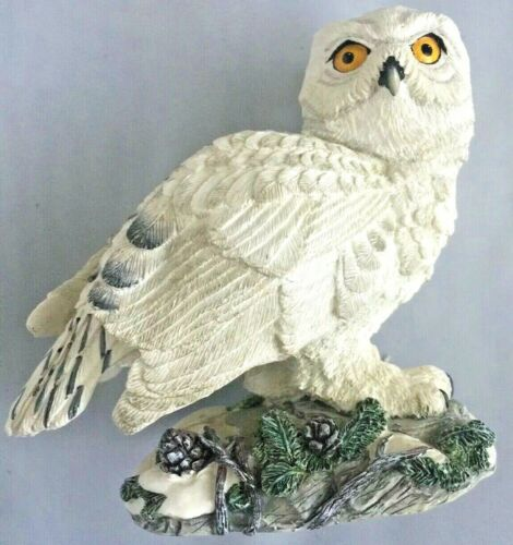 Great Snowy Owl Hamilton Masters Of The Evening Wilderness Sculpture Coll. 1994