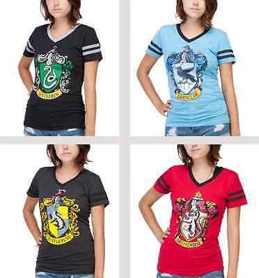 Harry Potter Slytherin Gryffindor Hufflepuff Ravenclaw t-shirt Juniors - Harry Potter T Shirt