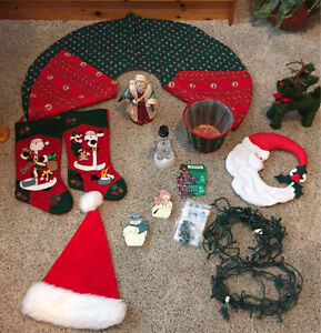 Christmas Tree,  Skirt, Stockings, Ornaments, Lights and Decor