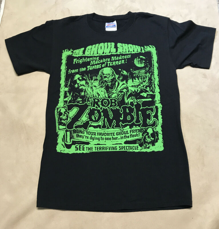 Rob Zombie The Ghoul Show 2009 Shirt - Used Size Small