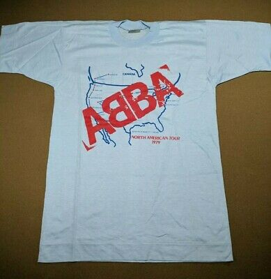 Vtg Original Abba 1979 North American Tour RARE T Shirt Size M Unworn