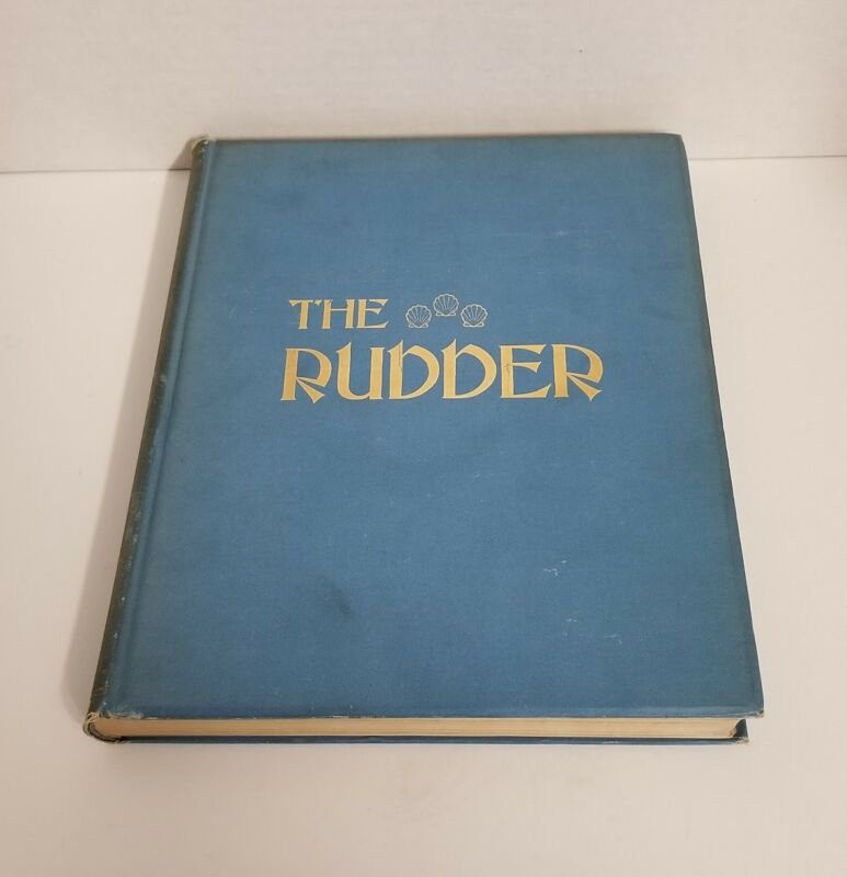 Antique Bound The Rudder Magazine Boat Yacht Sailing XCXVII Jan - June 1912