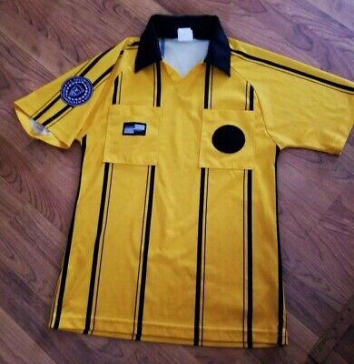 f1ae38a89 Official Sports Size S Yellow Pro New Style Soccer Referee Jersey Short  Sleeve
