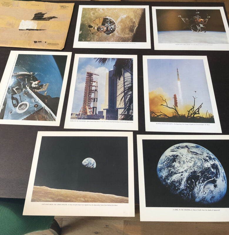 """Vintage Apollo """"In the Beginning""""NASA Picture Set #1 (7)"""