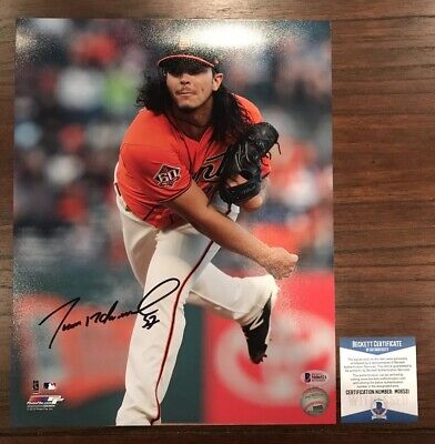 Francisco Rodriguez Autographed Photo (Dereck Rodriguez Autographed 11x14 Photo San Francisco Giants Witness Beckett #1 )