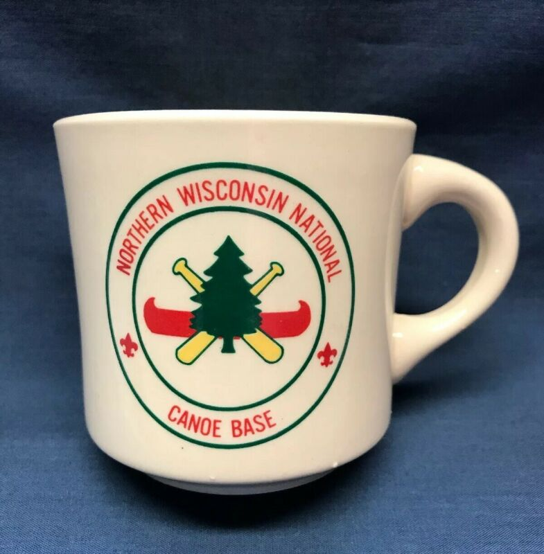 Vintage Northern Wisconsin National Canoe Base Boy Scouts BSA Coffee Mug.