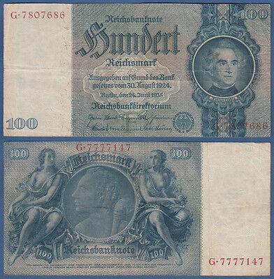 100 Reichsmark 24.6.1935  Erh.III / VF  Ro.176 a