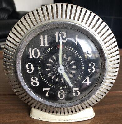 Vintage Alarm Clock 1970s Made In Hong Kong