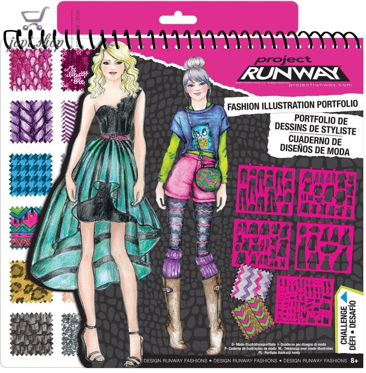 Project runway fashion design illustration studio set