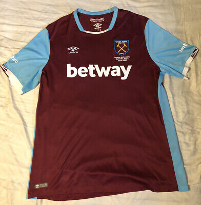 West Ham United Jersey 2016-2017 Home XXL Shirt Umbro Football Soccer -Excellent image