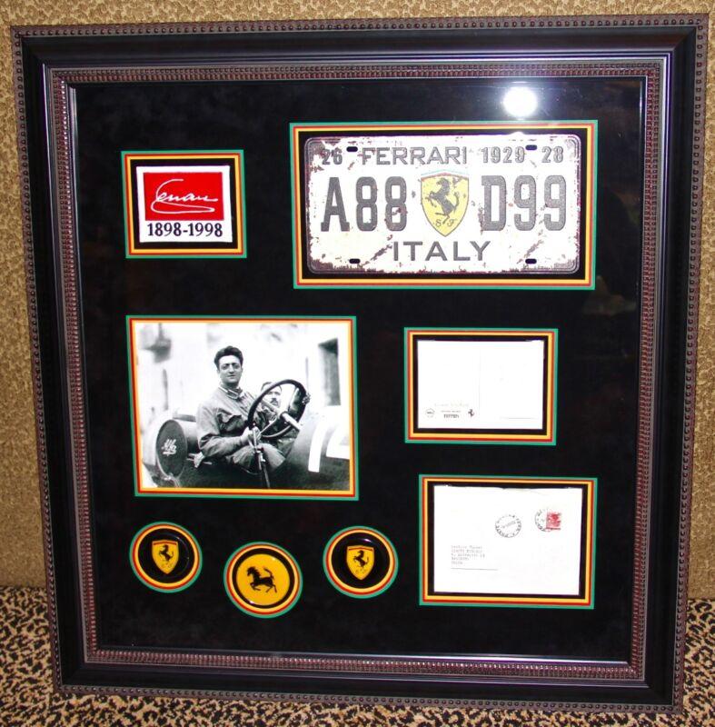 Super Rare ENZO FERRARI signed autographed letter postcard Modena 1966 PSA DNA