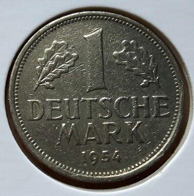 BRD: 1 DM 1954 G, KURSMÜNZE, SEHR SCHÖN.