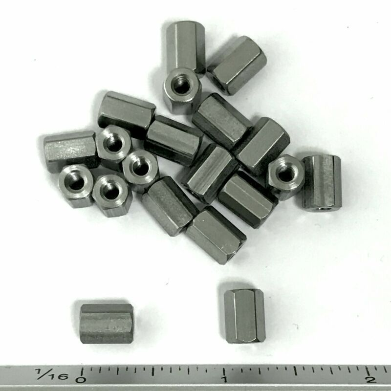 "(PKG of 20) Standoff, 1/4"" Hex, Female-Female, 6-32, 3/8"" L, Stainless Steel"