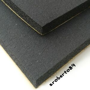 2 x Black Neoprene Self Adhesive Foam Sheets 12'' x 9''