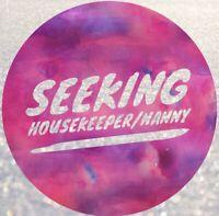 Busy Hamilton family seeking long term Nanny / Housekeeper