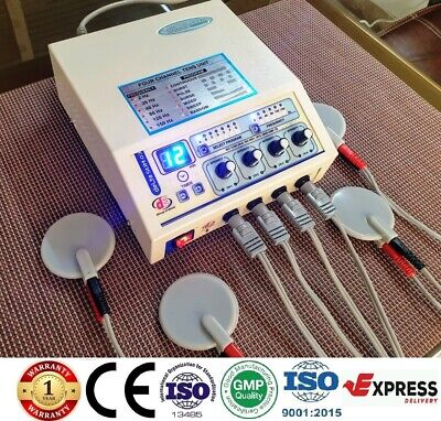 Prof. Home Use 4 Channel Electrotherapy Physical Pain Relief Ultrasound Machine