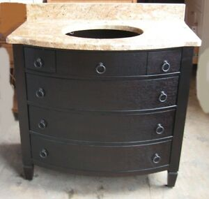 bow front bathroom vanity with a granite top and single sink 36 in sink included ebay
