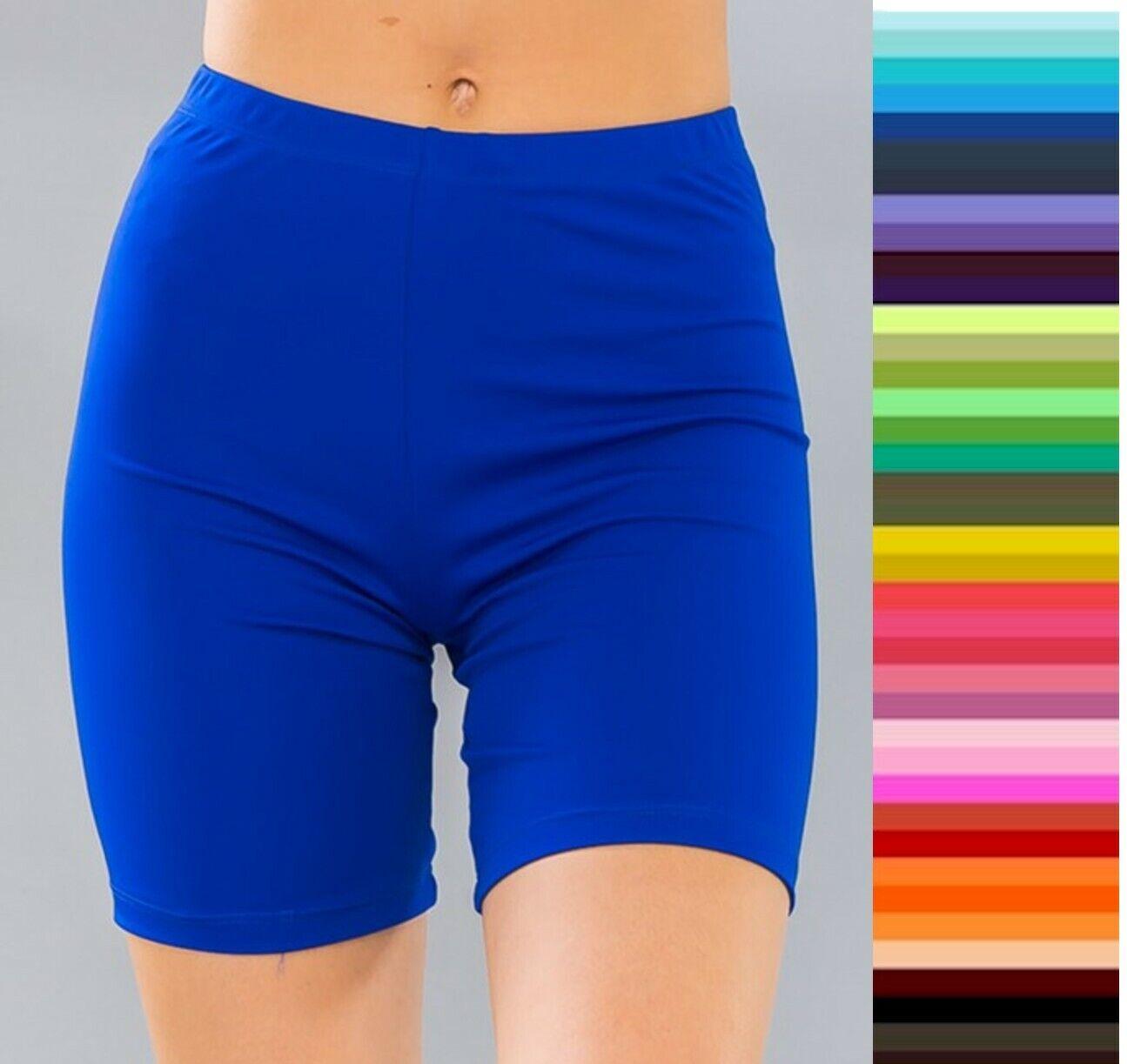 Bike Shorts Longer Length Mid Thigh Spandex Stretch S M L 10