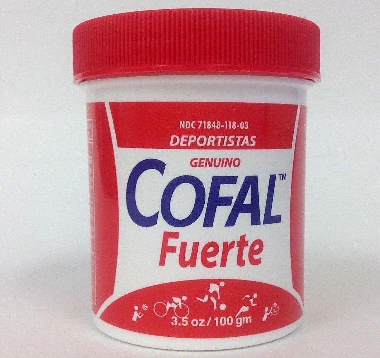 3 COFAL FUERTE ROJO 3.5oz GRANDE - FOR MUSCULAR PAIN, ARTHRITIS, BACK PAIN 1