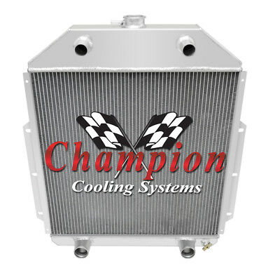 50 51 52 Ford F1 Pickup Truck Flathead Champion 3 Row Aluminum Radiator CC4252FH