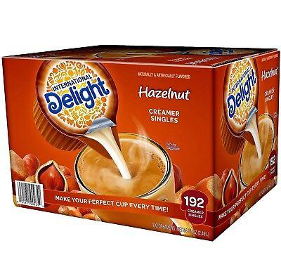 International Delight Hazelnut Liquid Creamer, 192-Count Single-Serve Packages Count Single Serve Packages