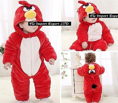 Angry Birds Costume Carnevale Calda Tuta Pile Baby Fleece Costume Onesie ABIRD01 ()
