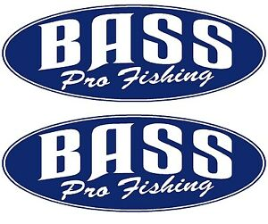 2x bass boat names bass pro fishing decal sticker. Black Bedroom Furniture Sets. Home Design Ideas