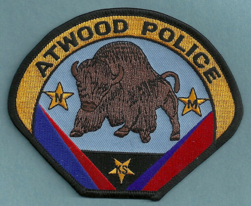 ATWOOD KANSAS POLICE SHOULDER PATCH BUFFALO!