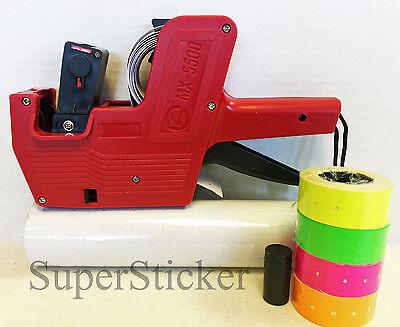 MX-5500 8 Digits Price Tag Gun Labeler Plus 5000 White / Blank labels +Free Gift